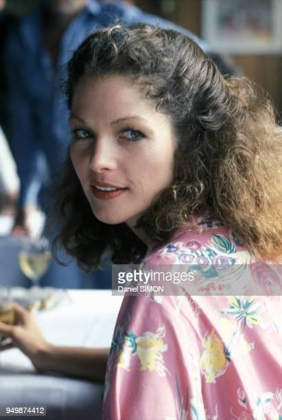 L'actrice Lois Chiles lors du tournage du film 'Moonraker'en août 1978 France