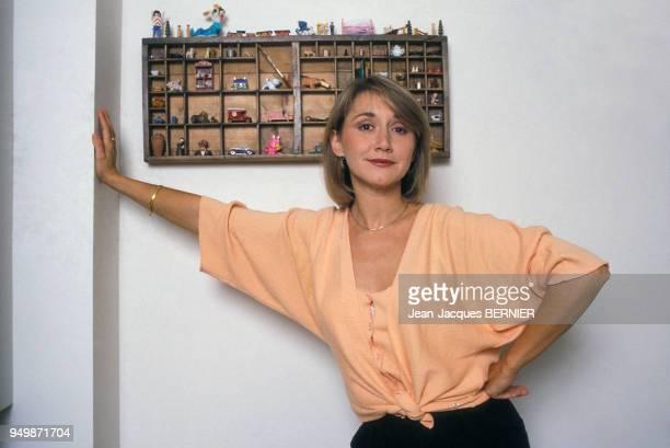 L'actrice MarieAnne Chazel en novembre 1984 à Paris France