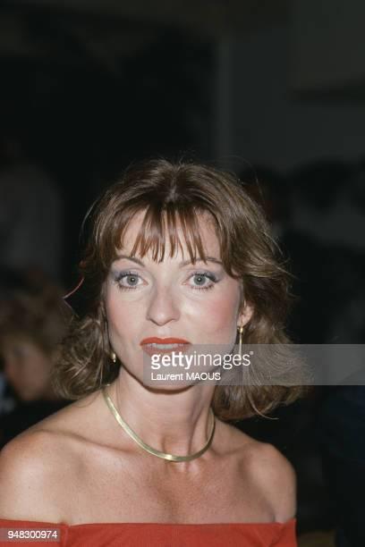 Actrice Marie-France Pisier au Festival du film romantique en juin 1985 à Cabourg, France.
