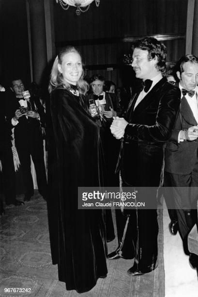 L'actrice Marthe Keller et Jacques Charrier acteur et producteur au Festival de Cannes le 15 mai 1973 France