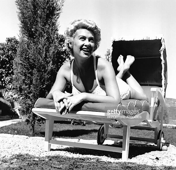 L'actrice Martine Carol en France circa 1960