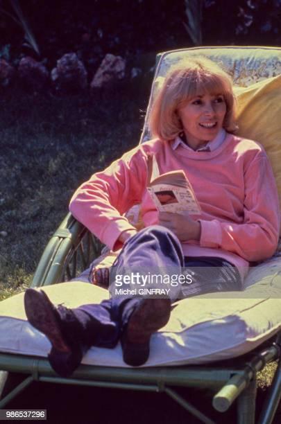 L'actrice Mireille Darc à Douchy en 1981 France