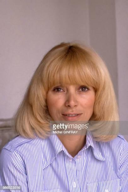 L'actrice Mireille Darc à Paris en 1985 France