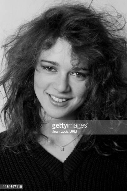 L'actrice néerlandaise Maruschka Detmers à Paris en février 1983 France
