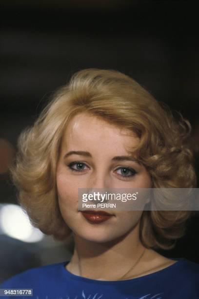 L'actrice Pauline Lafont lors du tournage du film 'Le Pactole' réalisé par JeanPierre Mocky le 11 février 1985 en France