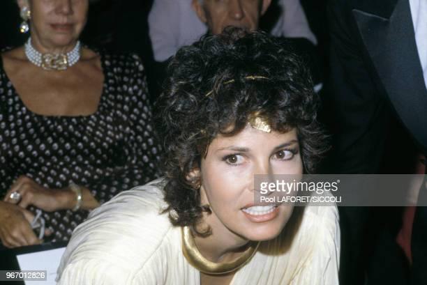 L'actrice Raquel Welch lors de l'hommage rendu à Gene Kelly au Théâtre du RondPoint le 18 septembre 1981 à Paris France