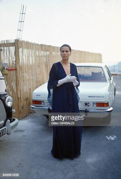 L'actrice Silvana Mangano le jour du mariage de sa fille en septembre 1973 à Menton France