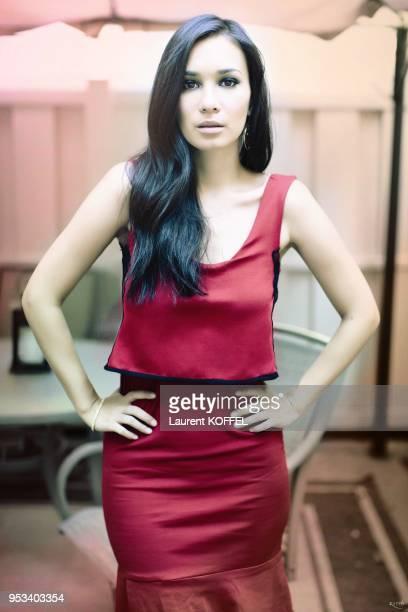 L'actrice sinoamericaine Celina Jade pose pour une seance photo le 5 octobre 2013 a los Angeles Californie EtatsUnis Film 'The Man with the Iron...