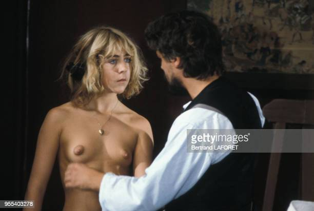L'actrice suisse Anne Bennent sur le tournage du film 'Lulu' de Walerian Borowczyk le 1er octobre 1979 à Berlin Allemagne