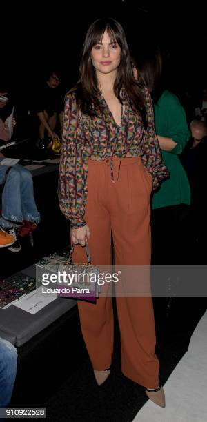 Actris Cristina Abad is seen at the Ailanto show during MercedesBenz Fashion Week Madrid Autumn/ Winter 201819 at Ifema on January 26 2018 in Madrid...