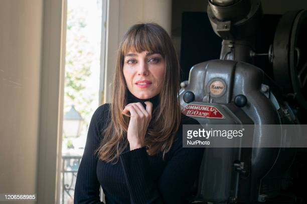 Actriz Irene Arcos poses during the portrait session at the Teatro Pavón theater in Madrid. March 11, 2020 Spain