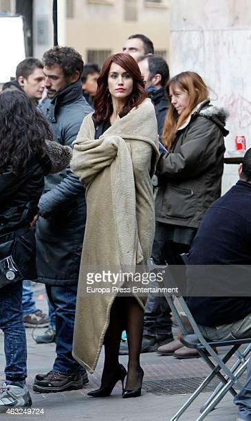 Actriz Megan Montaner is seen on the set filming of 'Sin Identidad' on January 29 2015 in Madrid Spain