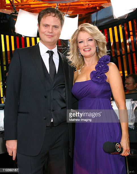 Actro Rainn Wilson and Entertainment Tonight reporter Mary Hart attend the 60th Primetime Emmy Awards held at the NOKIA Theatre on September 21, 2008...