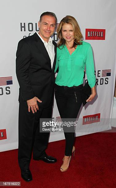 Actror Al Sapienza and Laurie Fortier attend Netflix's House Of Cards For Your Consideration QA Event at Leonard H Goldenson Theatre on April 25 2013...
