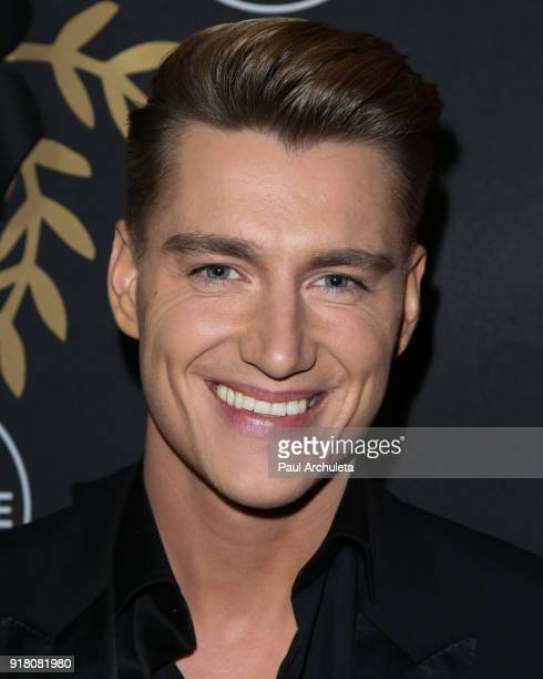 Actror Alex Sparrow attends the AntiValentine's bash for premieres of UnREAL And Mary Kills People at Eveleigh on February 13 2018 in West Hollywood...