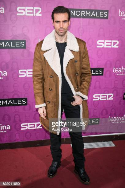 Actror Angel Caballero attends the 'Casi Normales' premiere at 'La Latina' Theatre on December 18 2017 in Madrid Spain