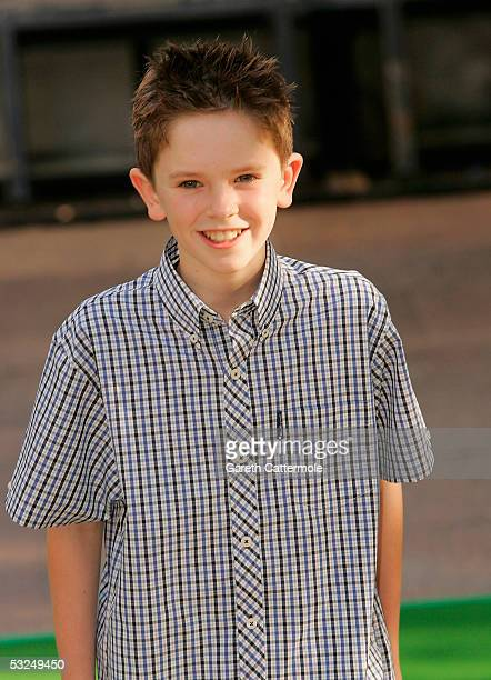 Actror Freddie Highmore arrives at the UK Premiere of Charlie And The Chocolate Factory at the Odeon Leicester Square on July 17 2005 in London...