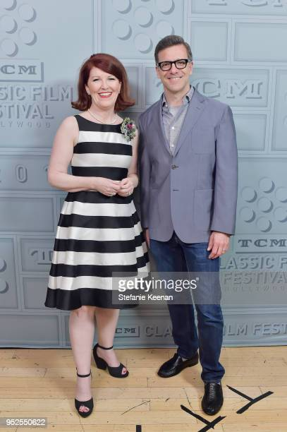 Actror Kate Flannery and Director Business Development Strategy at Turner Classic Movies Shannon Clute attends the screening of 'The Lost Weekend'...
