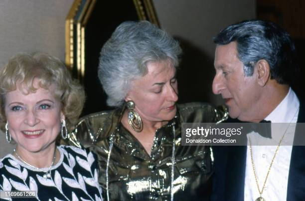 Actrors Betty White Bea Arthur and Danny Thomas attend the St Jude Gala on August 30 1986 in Los Angeles California