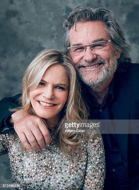 Actrors Jennifer Jason Leigh and Kurt Russell pose for a portrait at the 18th Costume Designers Guild Awards at The Beverly Hilton Hotel on February...