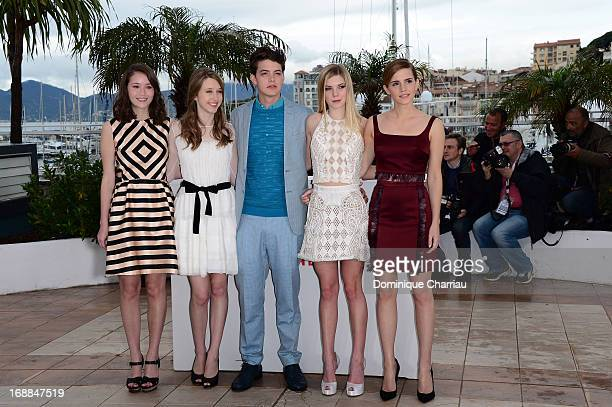 Actrors Katie Chang, Taissa Fariga, Israel Broussard, Claire Julien and Emma Watson attend the photocall for 'The Bling Ring' during the 66th Annual...