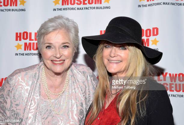 Actrors Lee Meriwether and Susan Olsen attend Hollywood Museum's Back To The Future Trilogy The Exhibit at The Hollywood Museum on December 05 2019...