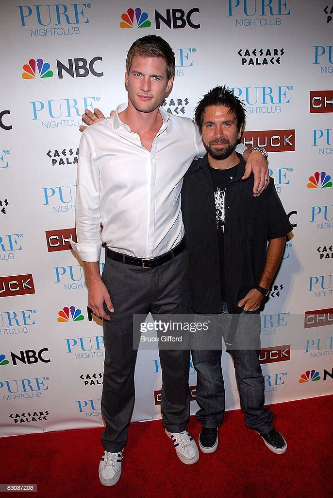 "Cast of ""Chuck"" Celebrates 2nd Season Premiere at Pure Nightclub : News Photo"