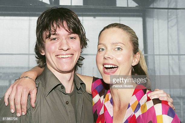 Actrors Sophie Lee and Abe Forsythe attend the 2004 AFI Awards Nominations at the Wharf Restaurant October 1 2004 in Sydney Australia