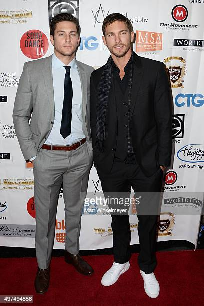 Actros Brent Antonello and Adam Senn arrive at the World Choreography Awards at The Ricardo Montalban Theatre on November 16 2015 in Hollywood...