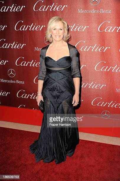 Actrress Glenn Close arrives at the 2012 Palm Springs International Film Festival Awards Gala at Palm Springs Convention Center on January 7 2012 in...