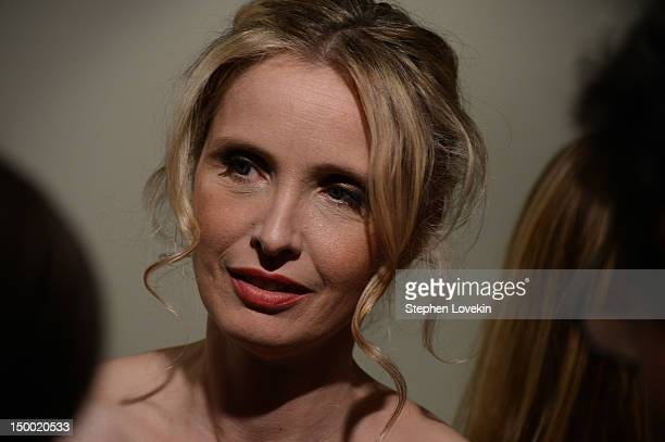 Actrress Julie Delpy attends The Cinema Society special screening of Two Days In New York at Landmark Sunshine Cinema on August 8 2012 in New York...