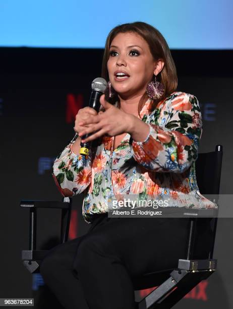 Actrress Justina Machado attends Comediennes: In Conversation at Netflix FYSEE at Raleigh Studios on May 29, 2018 in Los Angeles, California.