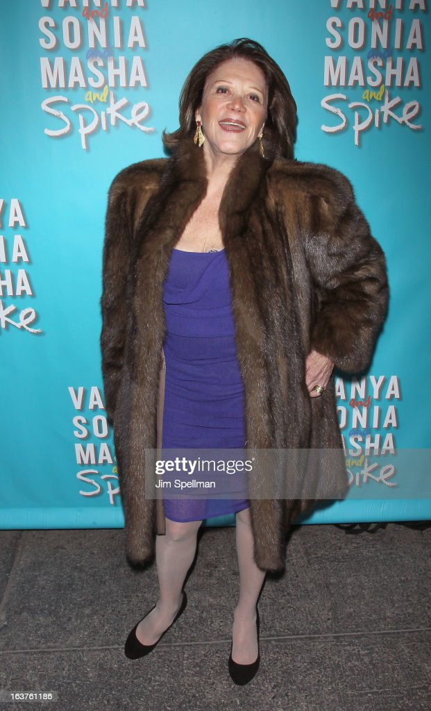 Actrress Linda Lavin attends the 'Vanya And Sonia And Masha And Spike' Broadway opening night at The Golden Theatre on March 14, 2013 in New York City.