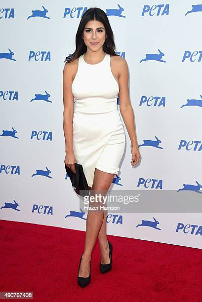 Actrss Daniella Monet arrives at PETA's 35th Anniversary Party at Hollywood Palladium on September 30 2015 in Los Angeles California