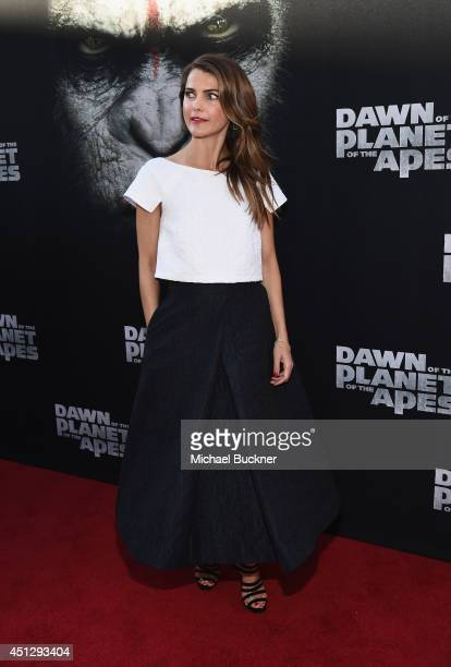 Actrss Keri Russell arrives at the premiere of 20th Century Fox's Dawn Of The Planet Of The Apes at Palace Of Fine Arts Theater on June 26 2014 in...