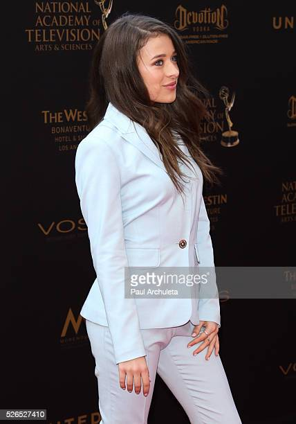 Acttress Addison Holley attends the 2016 Daytime Creative Arts Emmy Awards at The Westin Bonaventure Hotel on April 29 2016 in Los Angeles California