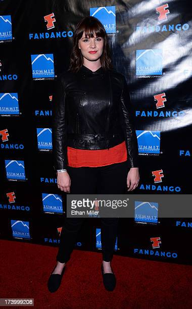 Acttress Amy C Newbold arrives at Summit Entertainment's press event for the movies 'Ender's Game' and 'Divergent' at the Hard Rock Hotel San Diego...