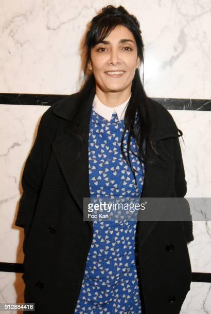 Acttress Fatima Adoum attends 'Voyoucratie' premiere at Publicis Champs Elysees on January 31 2018 in Paris France