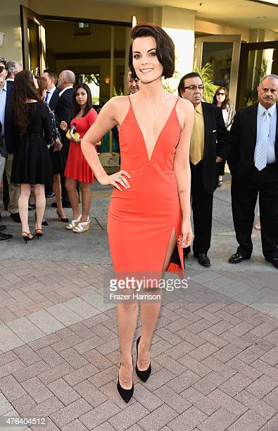 Acttress Jaimie Alexander arrives at the Premiere Of HBO's 'The Brink' at Paramount Studios on June 8 2015 in Hollywood California