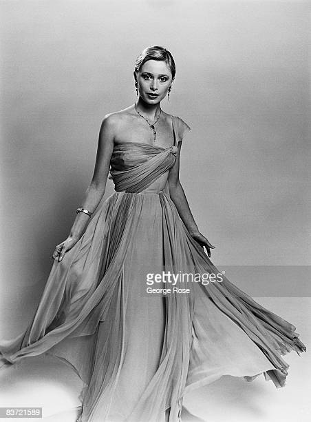 A actual dress designed by Academy Awardwinning designer Edith Head and worn by actress Grace Kelly in the movie 'To Catch a Thief' is modeled during...