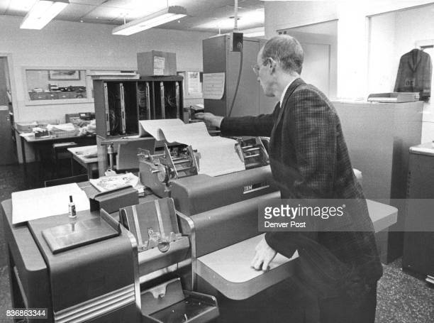 Actual student schedules ore run off at IBM equipment room located in Jefferson School Rl administration building The tabulator oper­ator Murry...