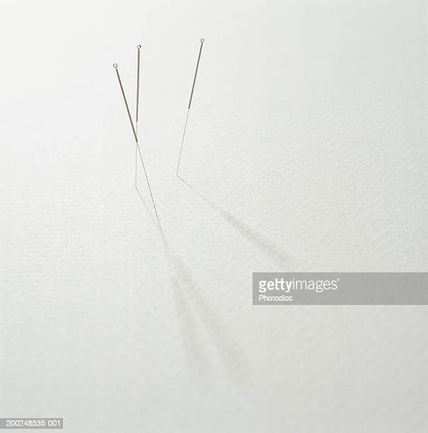 acupuncture needles - acupuncture needle stock pictures, royalty-free photos & images