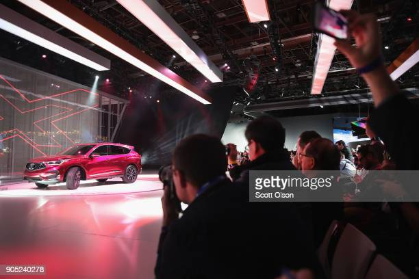 Acura introduces the RDX prototype at the North American International Auto Show on January 15 2018 in Detroit Michigan The show is open to the...