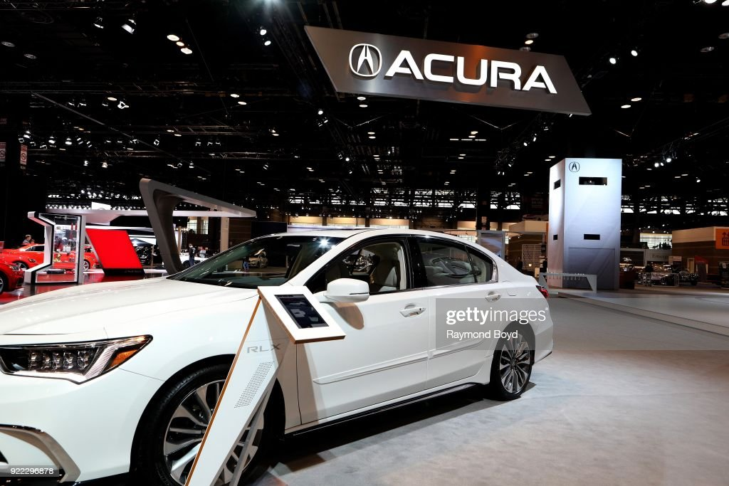 Acura RLX is on display at the 110th Annual Chicago Auto Show at McCormick Place in Chicago, Illinois on February 9, 2018.
