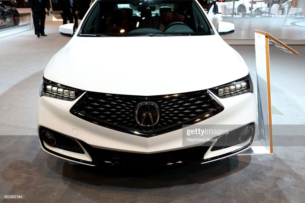 Acura TLX is on display at the 110th Annual Chicago Auto Show at McCormick Place in Chicago, Illinois on February 9, 2018.
