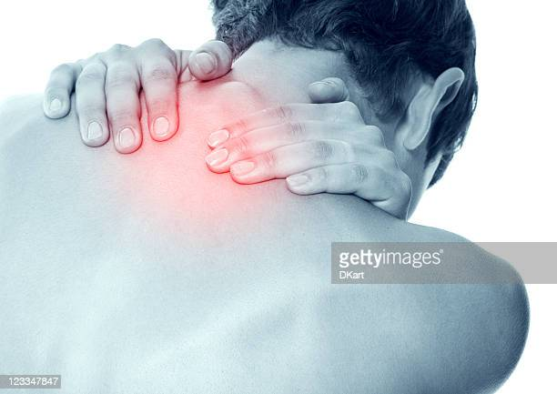 Acute pain in a neck at the young women.