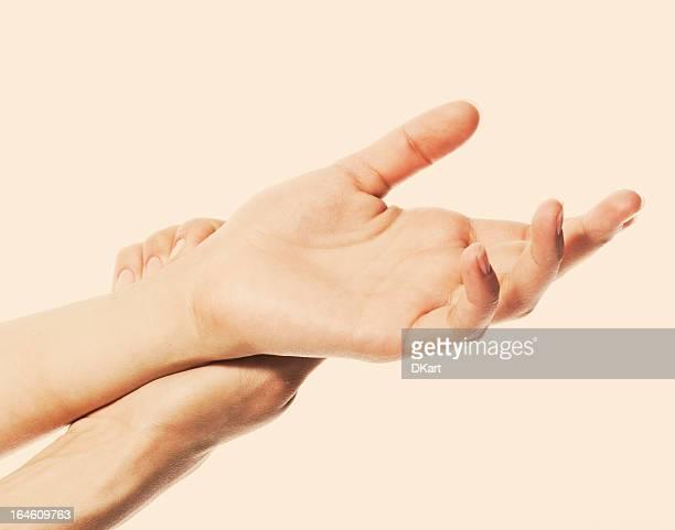 Acute pain in a women hand