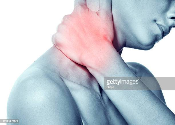 Acute pain in the neck of a young woman