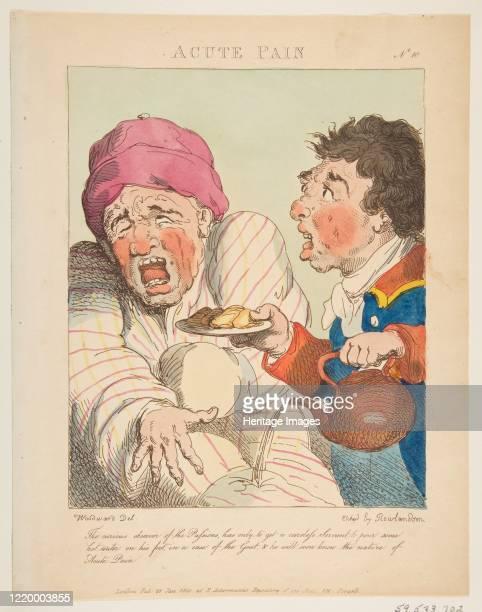 Acute Pain January 21 1800 Artist Thomas Rowlandson