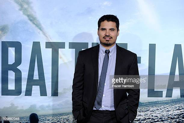 Acyor Michael Pena arrives at the premiere of Columbia Pictures' Battle Los Angeles at the Regency Village Theater on March 8 2011 in Westwood...